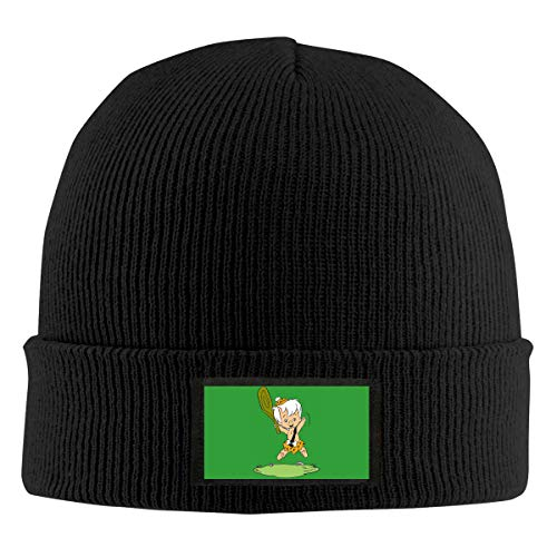 Aebipo Flint-Stones Bam-bam Unisex Men Women Beanie Hat Round Warm Chunky Knitted Hat Black]()