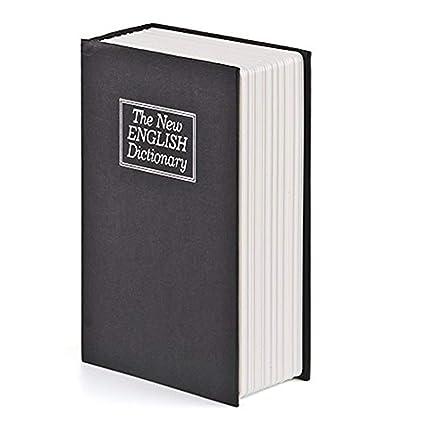 Caja de Seguridad en Forma de Libro, Frontoppy Libro de Seguridad con Bloqueo de Teclas