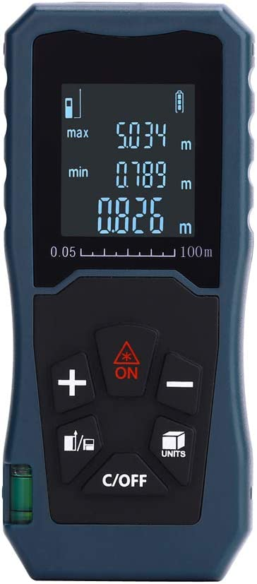 medidor de distancia 40 m//60 m//80 m//100 m buscador l/áser con modo pithagoreano /área M/áscara l/áser distancia de medici/ón c/álculo de volumen