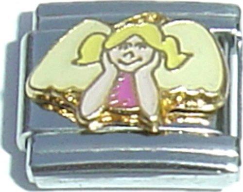 Gold Angel Italian Charm - 2