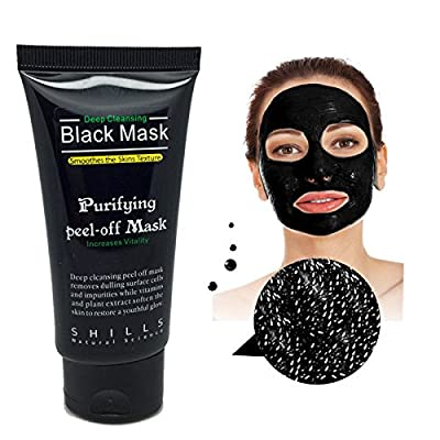 MEINAIER Blackhead Remover Mask£¬Blackhead Purifying Peel Off Mask,Activated Charcoal Blackhead Exfoliators Remover Clear Mask Black Mud Pore Removal Strip Mask For Face Nose Acne Treatment