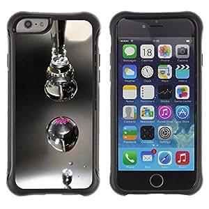 Pulsar Defender Series Tpu silicona Carcasa Funda Case para Apple iPhone 6(4.7 inches) , Design Macro Drop
