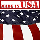 US Flag Factory – 3'x5′ U.S. AMERICAN FLAG (Embroidered Stars & Sewn Stripes) Outdoor Hercules HERC Polyester Flag – Commercial Grade, Long-Lasting – 100% Made in USA (3′ x 5′) – Premium Quality Review