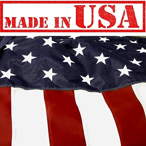 US Flag Factory - 6'x10' U.S. American Flag (Embroidered Stars & Sewn Stripes) Outdoor Hercules HERC Polyester Flag - Commercial Grade, Long-Lasting - 100% Made in USA - Premium Quality