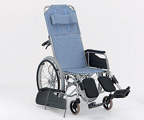 松永製作所0-7718-01リクライニング車椅子(自走式/スチール製/座幅400mm/エアータイヤ) B07BD36XR8