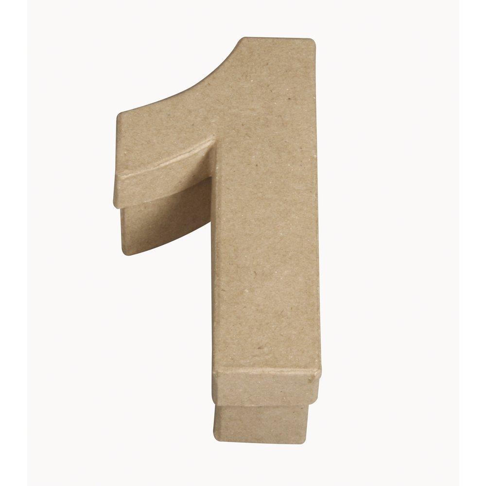 Rayher Papier m/âch/é 5,5x4x12cm Boite chiffre 1
