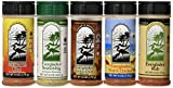 Everglades Seasoning Pack of 5, Sampler Cactus Dust Heat Fish and Chicken Rub Bottles for All Purpose, 6 oz. and 8 oz.