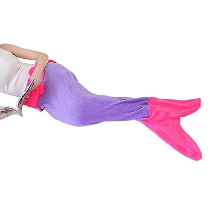 Generic Saco de dormir infantil Sacos de dormir Tiburón techo Mermaid sirena cola Blanket Saco de