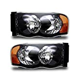 SPPC Black Headlights For Dodge Ram 1500 / Dodge Ram 2500, 3500 - (Pair)