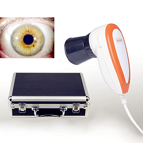 Zorvo 5.0 MP USB Iriscope Iris Analyzer Iridology Camera With Pro Iris Software Left/Right lamp Eye Iriscope Iris Analysis Iridology Camera With Pro Iris Software ()