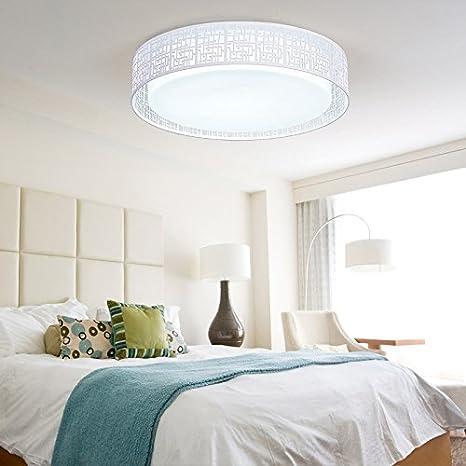 Dormitorio pequeño LED lámpara, lámpara de techo, cálido y ...