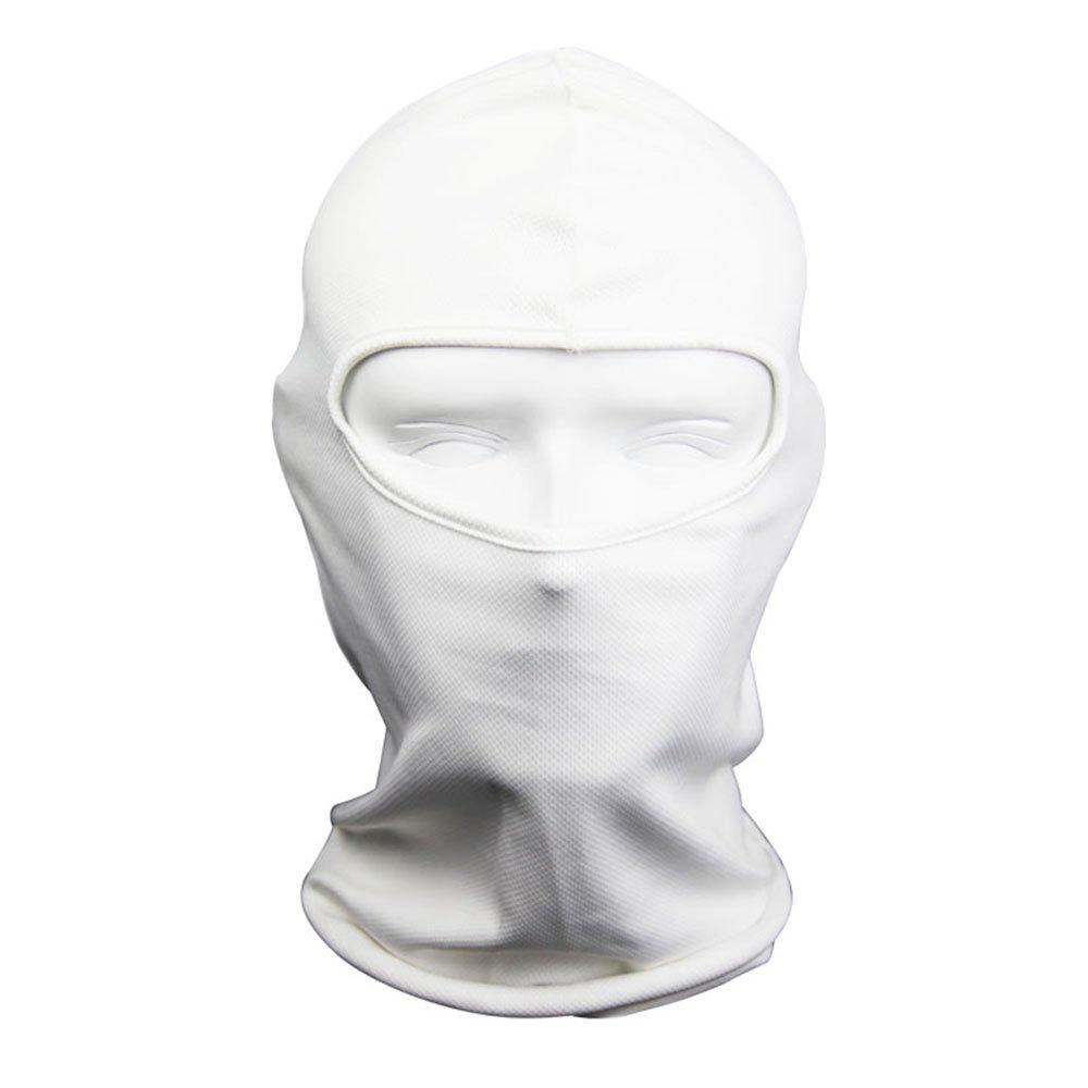 NewNow Candy Color Ultra Thin Ski Face Mask - Great Under A Bike / Football Helmet -Balaclava-White