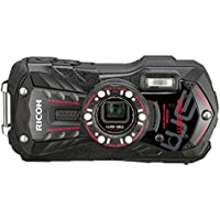 Ricoh WG-30 black 16 MP Waterproof Digital Camera with 5x Optical Image Stabilized Zoom and 3-Inch LCD (Black)