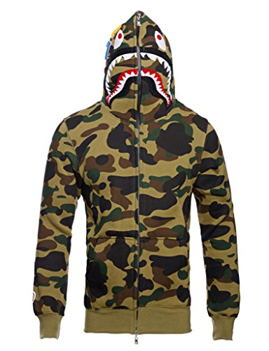 Price comparison product image Christo Mens Hoodies Sweatshirt Fashion Casual Coat Outdoor Hip-Hop Funny Tops,  Camouflage,  S