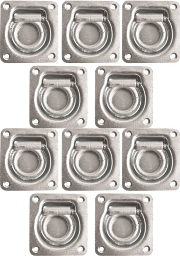 Heavy Duty Cargo Trailers (10 Pack of Heavy Duty Cargo Trailer D-Rings for ATV, TOY Haulers)
