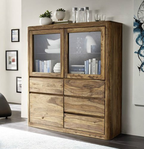 Highboard Schrank Vitrine