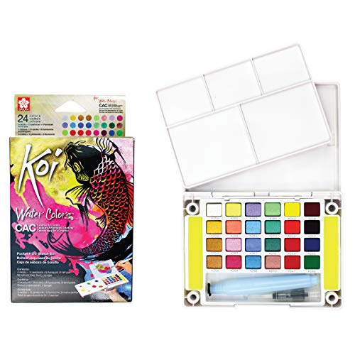 Sakura XNCW-24MPN Koi sketchbox Watercolor Paint, Assorted -