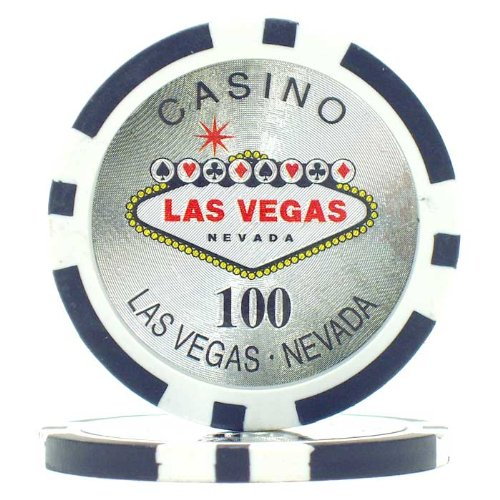 Trademark Poker Clay Laser Las Vegas 50 Poker Chips (100-Piece), 15gm (Poker Clay Vegas Las)