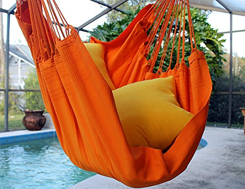Tangerine Dream – Fine Cotton Hammock Chair, Made in Brazil