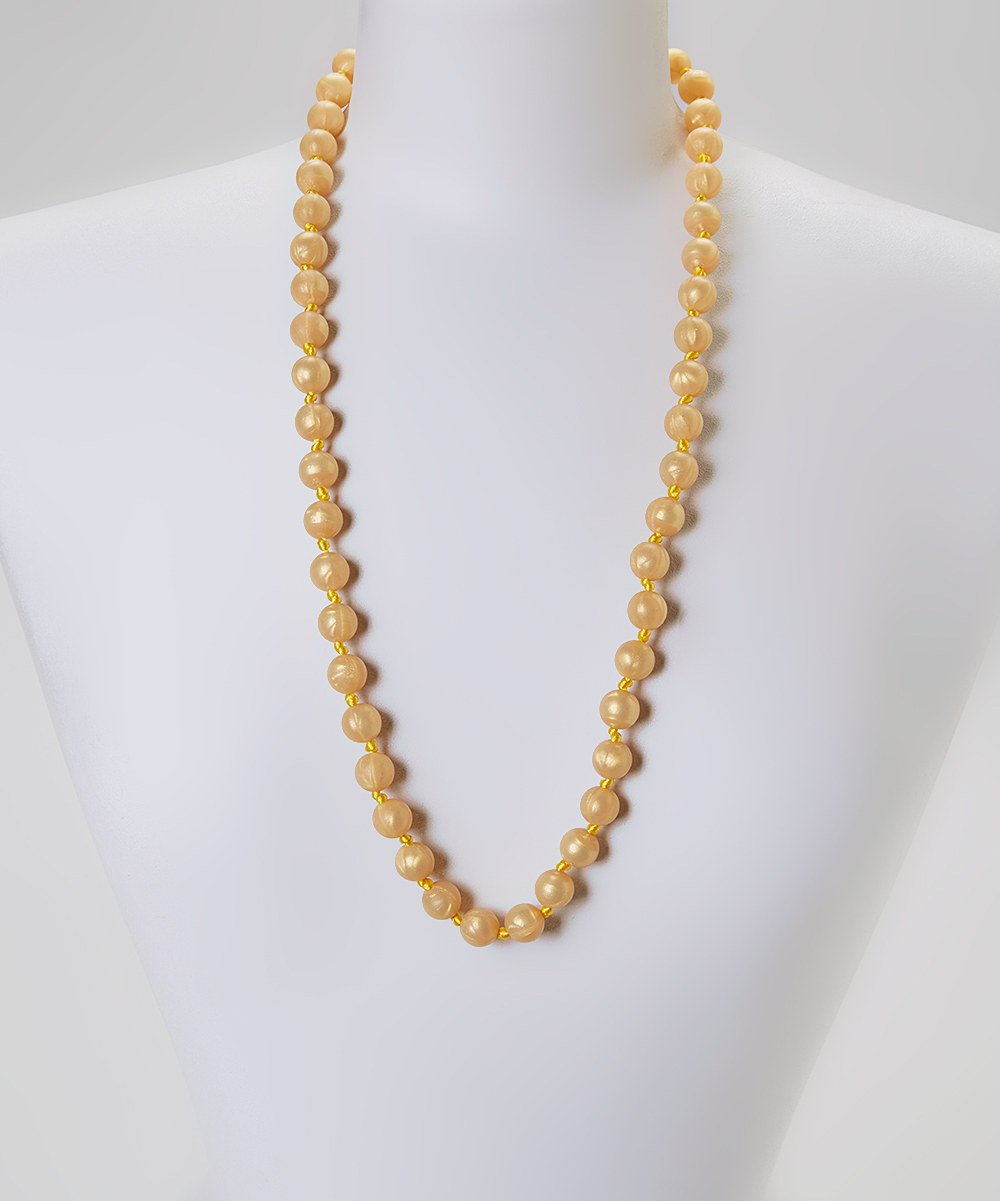 GUMEEZ PEARL TEETHING NECKLACE - GOLD PEARL by GUMEEZ   B00OU03VDO