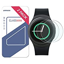 Wimaha 2 Pack Samsung Gear S2 Screen Protector for Samsung Gear S2 and Samsung Gear S2 Classic Tempered Glass Screen Protector Ultra Clear