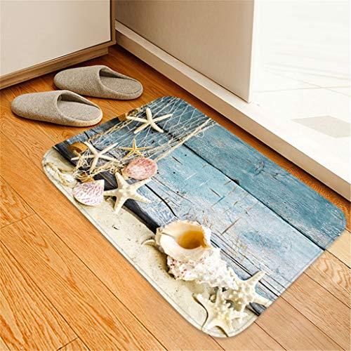 Yu2d  40X60 cm Carpet Hallway Doormat Anti - Slip Carpet Absorb Water Kitchen -