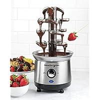 Nostalgia CFF1000 2-Pound Capacity Stainless Steel Cascading Chocolate Fondue Fountain