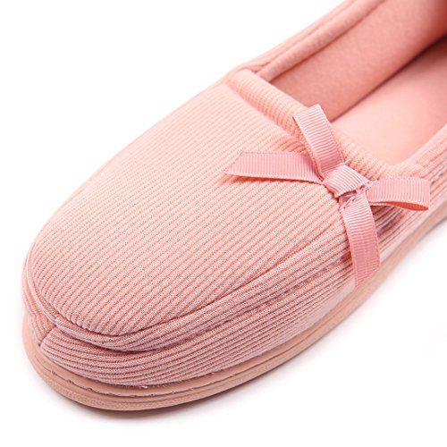 Pantofole Da Donna Chicnchic Comfort Mocassino Da Interno Suola Morbida Scarpe Antiscivolo Arancione Rosa
