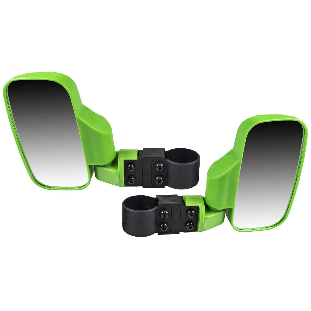 Niche Green Offroad Break-Away Side View Mirror Set for UTV Side x Side Utility Vehicle w/ 1.75'' & 2'' Roll Cage Bar