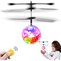 Feiqio Flying Ball Toys, Kids RC Toy, Rechargeable Drone Infrared Induction Helicopter with Remote Controller, Indoor/Outdoor Flying Toys, Best Gifts for Boys Girls Age Over 6 Years