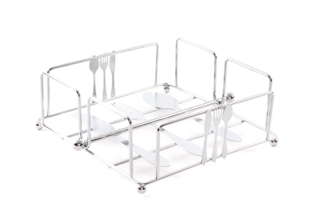 Item Metal Napkin Holder with Cutlery Design