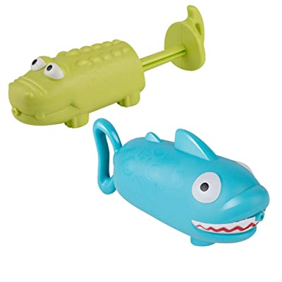 BESPORTBLE 2Pcs Water Shooter Crocodile Shark Shape Squirt Soaker Blaster Swiming Pool Beach Bathing Toy: Sports & Outdoors