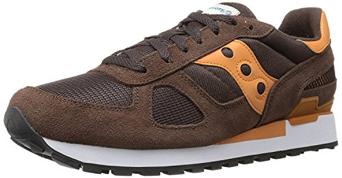 Saucony Originals Mens Shadow Original Sneaker, Brown/Orange, 36 EU/3 UK