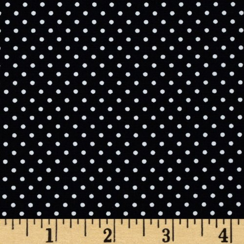 Black And White Quilting Fabric - Robert Kaufman Pimatex Basics Pin Dot Black/White Fabric By The Yard