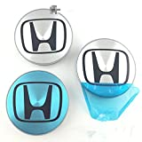 Set Of 4 pcs 68mm Wheel Center Caps Hubcaps For Honda Silver by Dr Dry