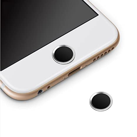 huge selection of ff373 7761a OJOS Touch ID Button Home Sticker for iPhone 5s/6/7/8/6/7/8 plus, iPad  mini/Air (Silver, Black)