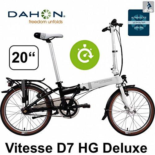 VITESSE DAHON cityfolder D7HG ND/7Gang/50,8 cm/Luz LED paquete/paquete Deluxe: Amazon.es: Deportes y aire libre