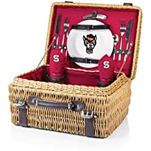 PICNIC TIME NCAA Champion Picnic Basket with Deluxe Service for Two