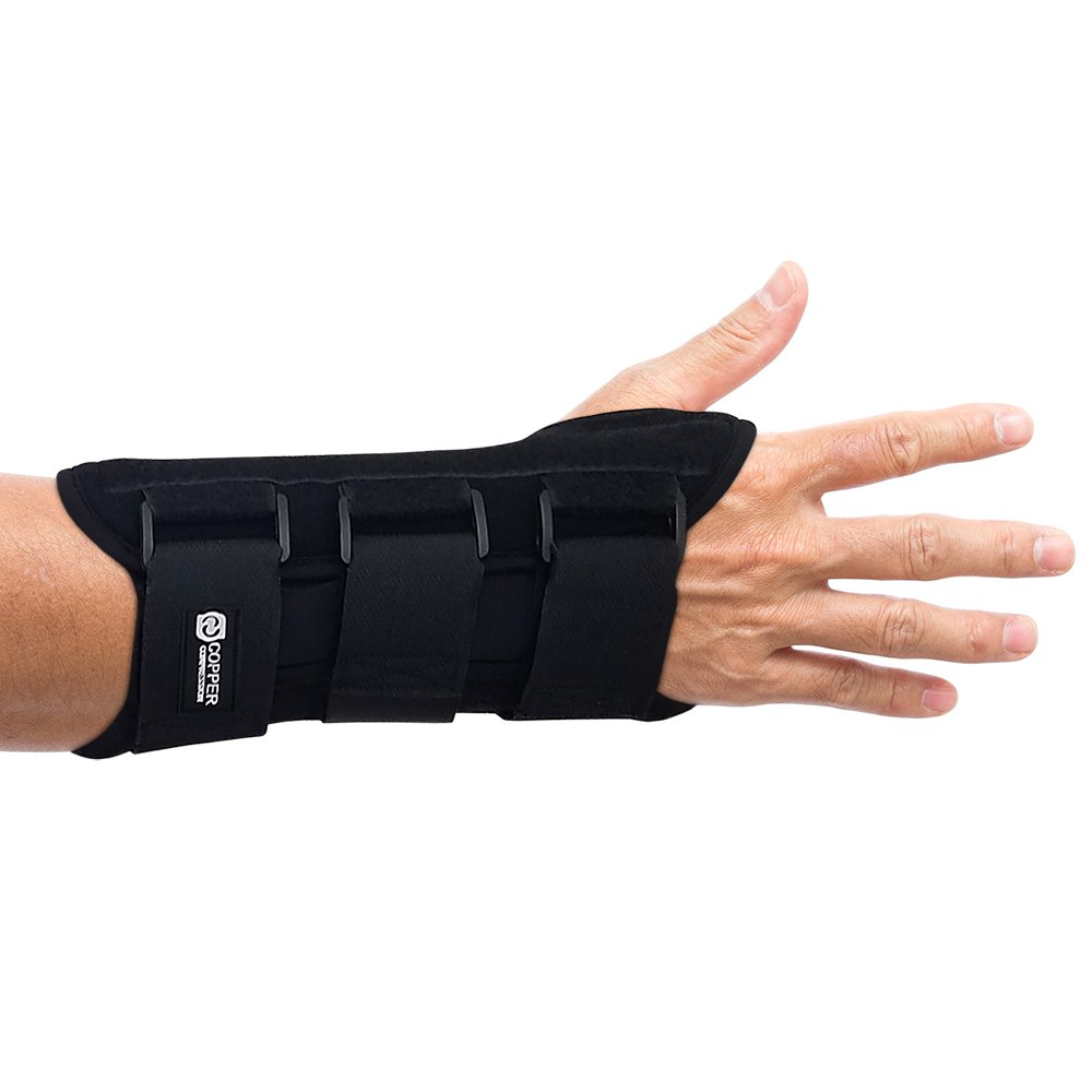 Copper Compression Carpal Tunnel Night Time Wrist Brace - Guaranteed Highest Copper Content Wrist Support Braces. Comfortable Sleep for Wrists and Hands Relief. Adjustable Support Splint. Right Hand