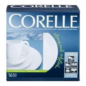Corelle Livingware Durable Glass Dinnerware Winter Frost White - 16 CT  sc 1 st  Amazon.com & Amazon.com | Corelle Livingware Durable Glass Dinnerware Winter ...