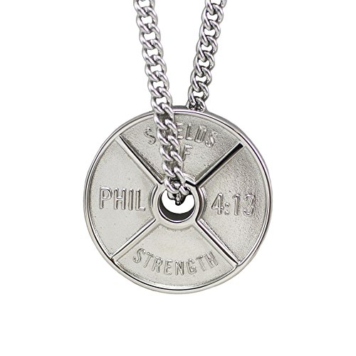 l High Relief Weight Plate Necklace-Phil 4:13 ()