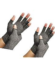 RZJZGZ 2 paar artritis compressie handschoenen bieden ondersteuning en warmte voor handen, vingergewricht, verlichten pijn van reumatoïde artritis, artrose, carpaal tunnel (M))
