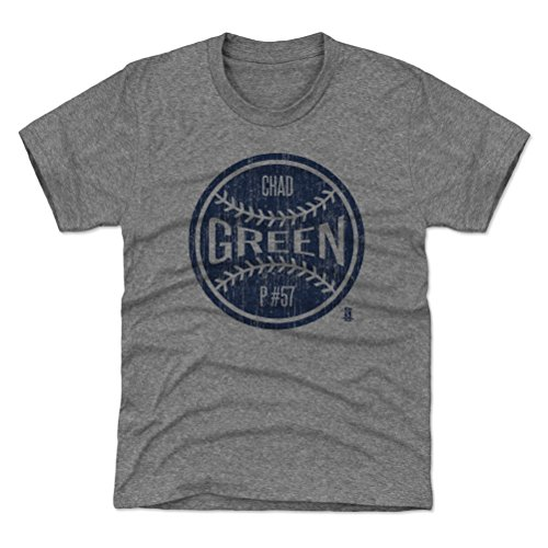 500 LEVEL New York Baseball Youth Shirt - Kids X-Large (14-16Y) Tri Gray - Chad Green New York Ball B