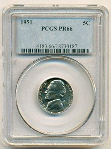 1951 Jefferson Proof Nickel PR66 PCGS
