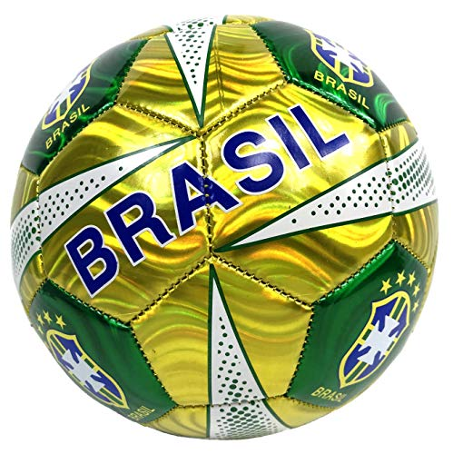 Brasil Soccer Ball Summer High Quality Outdoor Sport Soccer Fan 2014 World Cup Mexico Yellow/green Ball Size 5!