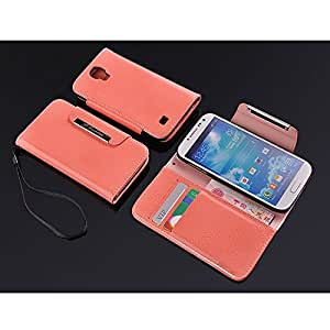 JUJEO Magic Block PU Leather Purse Shell for Samsung Galaxy S4 - Non-Retail Packaging - Pink