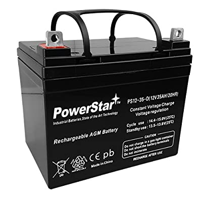 PowerStar 12V 35AH U1 Deep Cycle AGM Solar Battery Replaces 33Ah, 34Ah, 36Ah