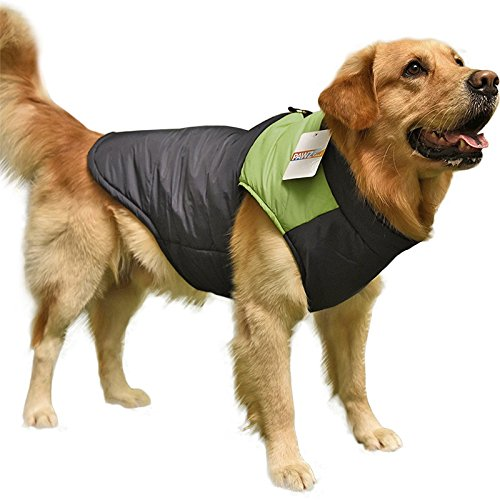 Green 3L Green 3L Sabart Pet Clothes Cold Weather Dog Vest For Large Dogs 4 colors ( color   Green , Size   3L )