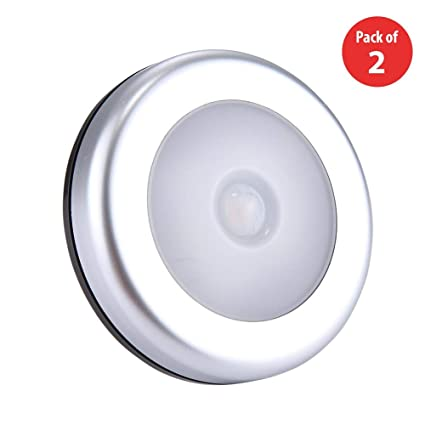 Amazon.com: Sensor de movimiento + control de luz LED blanco ...