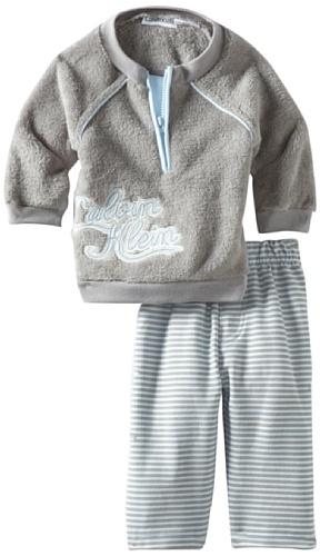 Calvin Klein Baby-Boys Newborn Sherpa Jacket With Jog Pants